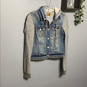 American Eagle Jean Sweater Hoodie Jacket sz M